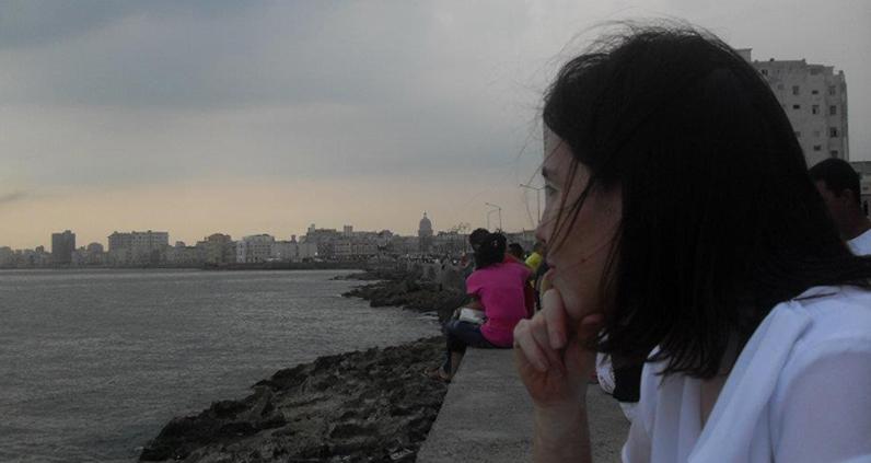 En el Malecón de la Habana